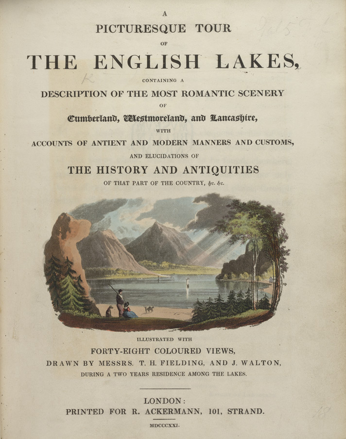 Title page from 'A Picturesque Tour of the English Lakes'